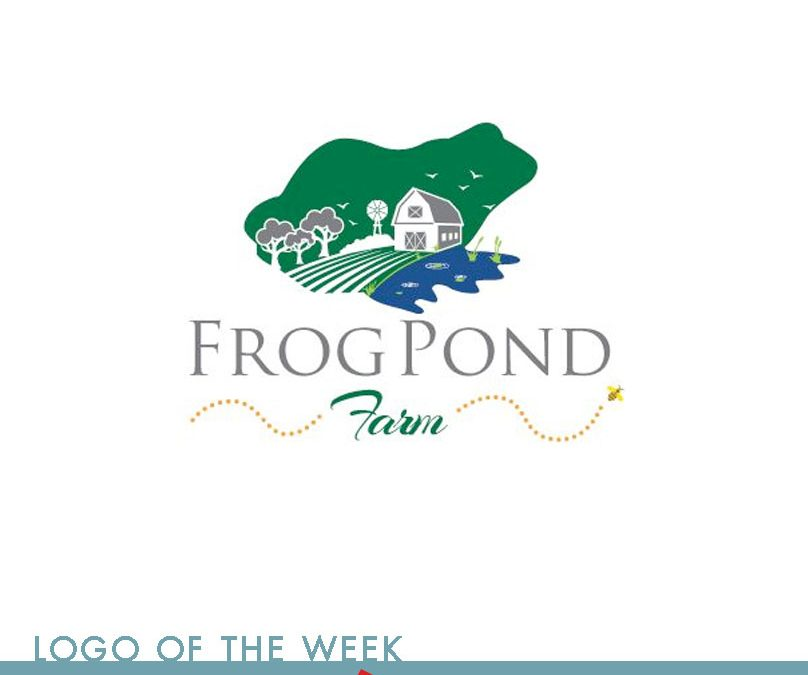 frogpond negative space logo design