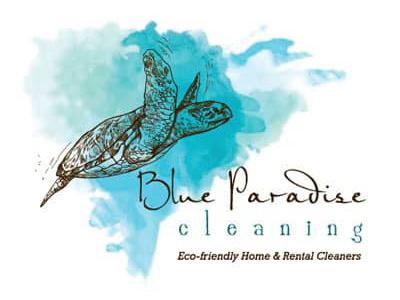 sample : Logo Design Blue Paradise cleaning